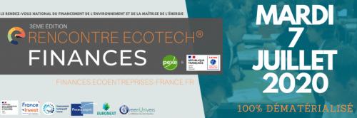 Le PEXE et l'ADEME, en partenariat avec France Invest, France Participative, France Angels, EuroNext et GreenUnivers vous invitent à participer à la 3ème édition de la Rencontre Ecotech®