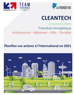 Agenda des événements 2021 domaine des Cleantechs avec Business France