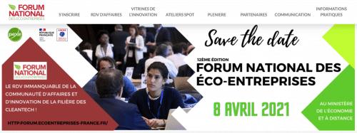 Le PEXE et l'ADEME vous invitent à participer à la 12èmeédition du Forum national des éco-entreprises.