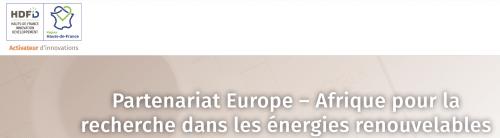 Partenariat Europe – Afrique pour la recherche dans les énergies renouvelables : bénéficiez de financement !