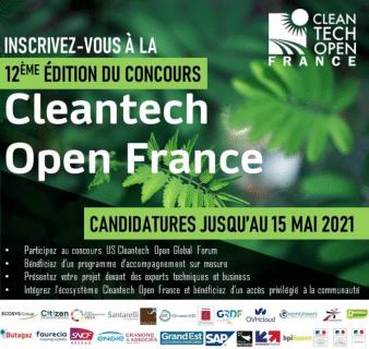 Les candidatures de la 12ème édition du Concours Cleantech Open France sont ouvertes !