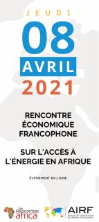 Rencontre économique francophone 100 % digitale sur l'accès à l'énergie en Afrique