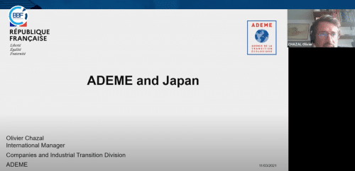 Business Booster Forum France Japon de CCIFI avec participation de l'ADEME
