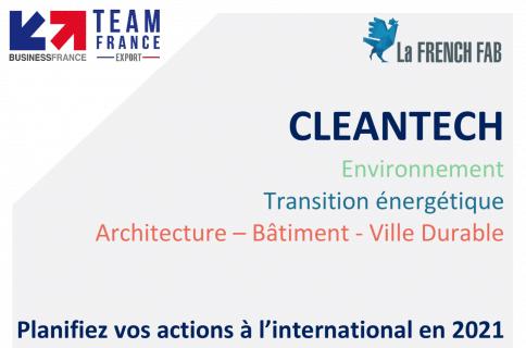 Calendrier des manifestations et événements Business France sur la thématique bâtiment