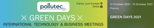 Date des inscriptions des Green Days (rendez-vous d'affaires internationaux sur Pollutec) prolongée au 24/10